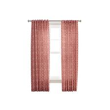 martha stewart living cement gray full bloom back tab curtain
