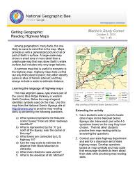 map reading practice reading highway maps national geographic society