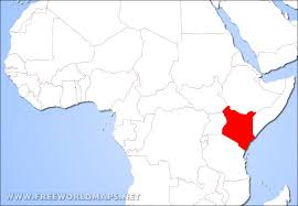 geographical map of kenya where is kenya located on the world map