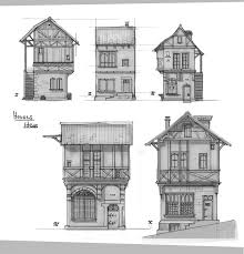 medieval houses sketches by rhynn timber trails turnkey tiny