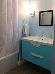 Using Kitchen Cabinets For Bathroom Vanity Ikea Floating Bathroom Vanity Using Kitchen Cabinets Features Gray