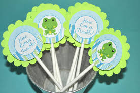 frog baby shower 12 cupcake toppers boys baby shower or birthday frog theme so