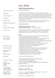 sales representative cv sample