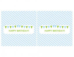 free blue and green boy birthday printables from green apple