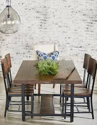 industrial kitchen table furniture magnolia home framework dining table with planter industrial