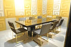 versace dining room table versace greek key silver and gold wallpaper versace greek and