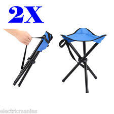 travel chair slacker portable fishing folding tripod stool red ebay