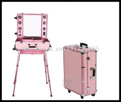 professional makeup artist lighting pink colour high quality pvc frasqueira maquiagem professional
