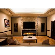 Built In Electric Fireplace Fusion 50 Inch Built In Ventless Heater Recessed Wall Mounted