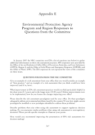Additional Information Examples Appendix E Environmental Protection Agency Program And Region
