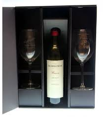wine bottle gift box wine glass with bottle gift box 2wg b