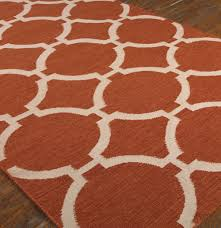 Orange Modern Rug Wool Area Rugs