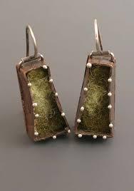 felt earrings artist kristi zevenbergen at facèré jewelry gallery seattle