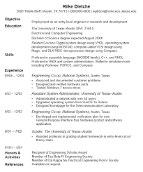 Sample Objectives In A Resume by Online Technical Writing Resumes