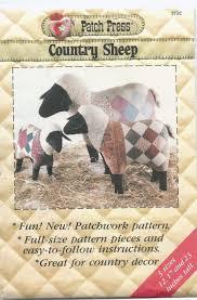 uncut sewing pattern country fair lamb sheep stuffed animals