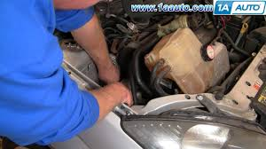 how to install replace engine serpentine belt ford focus zetec