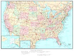 usa map key cities map usa with cities major tourist attractions maps