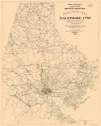 Baltimore County Zip Code Map by Civil War Map Baltimore County 1863