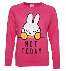 miffy not today slogan sweater