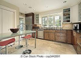 cuisine rectangulaire verre table cuisine rectangulaire suburbain photographie de