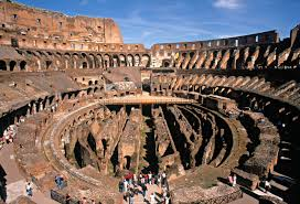 aerial view of the colosseum in rome roman architecture and