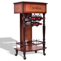 Wood Wine Cabinet Burgundy Wooden Wine Cabinet Bottle Rack For 20 Bottles Wine