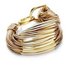 gold cord bracelet images Black wrap leather tube bracelet gold bar cord bracelet knot 2014 jpg