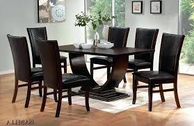 Modern Contemporary Dining Room Chairs Black Brown Dining Table Set Black Wood Dining Room Sets Com Dark