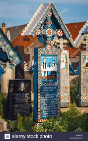 carved wooden crosses sapanta romania 04 july 2015 carved and painted wooden crosses