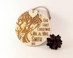 newlywed ornament etsy