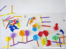 learn with play at home sticky table garden contact paper