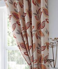 Black Eyelet Curtains 66 X 90 Leaf Trail Eyelet Curtains 66 X 90 Beige Brown Grey Latte