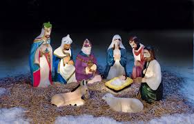 Outdoor Plastic Light Up Nativity Scene by Fingerhut 9pc Traditional Nativity Set