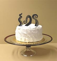 made in usa octopus tentacles wedding cake topper set of 3