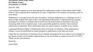 cover letter for mathematics teacher job cover letter templates