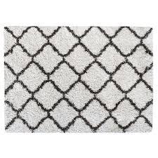 equinox luxury trellis shag rug