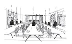 sketch room gallery of dplus intertrade head office pure architect 48