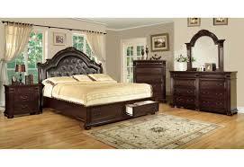Cherry Wood Bedroom Sets Queen 7162 Furniture Of America Scottsdale Bedroom Set Brown Cherry Finish