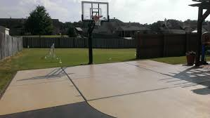 nice backyard concrete slab for playing ball pro dunk hoops
