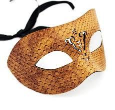 leather masquerade masks buy steunk brown snake skin leather masquerade mask laser