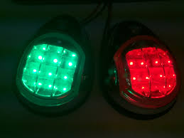 Boat Navigation Lights Marine Boat Ss304 Green Starboard Red Port Led Navigation Light