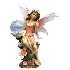 beautiful fairy with crackle ball solar light decorcave com