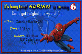 spiderman printable birthday invitation