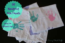 diy handprint dish towels canary street crafts