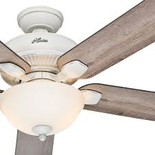 ceiling fan with grey blades hunter 52 cottage white outdoor ceiling fan with grey pine blades