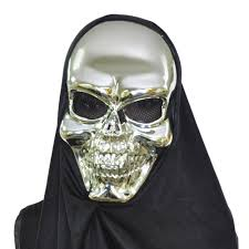 Skull Mask Halloween Gold Skull Metallic Halloween Mask Yugster