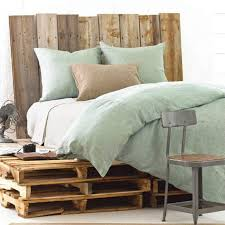 Linen Colored Bedding - sea foam green linen bedding coastal bedrooms pinterest