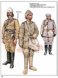 Ottoman Army Ww1 Ottoman Officer Turkish Soldier And Kurdish Irregular Soldier