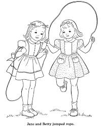 bluebonkers coloring pages girls jump free