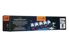 portaspezie magnetico master class portaspezie magnetico da parete con 6 barattoli per